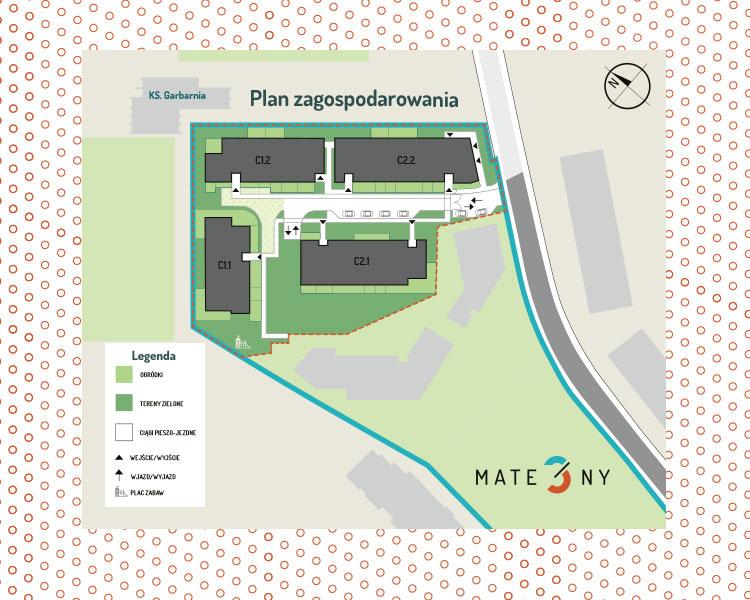 Plan osiedla Mate3ny
